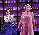 Patti Lupone and Christine Ebersole during the Broadway opening night performance curtain call for 'War Paint' at the Nederlander Theatre on April 6, 2017 in New York City