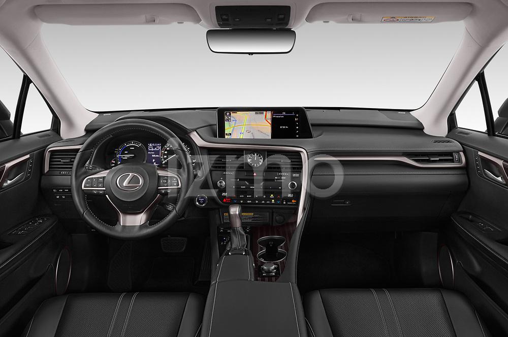 Stock photo of straight dashboard view of 2019 Lexus RX Privilege-Line 5 Door SUV Dashboard
