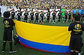El equipo de Colombia en la ceremonia de los himnos antes del partido entre Colombia y Paraguay en la Copa América Centenario USA 2016 en el Rose Bowl Stadium, Pasadena, California, el 6 de junio de 2016.<br /> Foto: Archivolatino<br /> <br /> COPYRIGHT: Archivolatino/Alejandro Sanchez<br /> Prohibida su venta y su uso comercial.