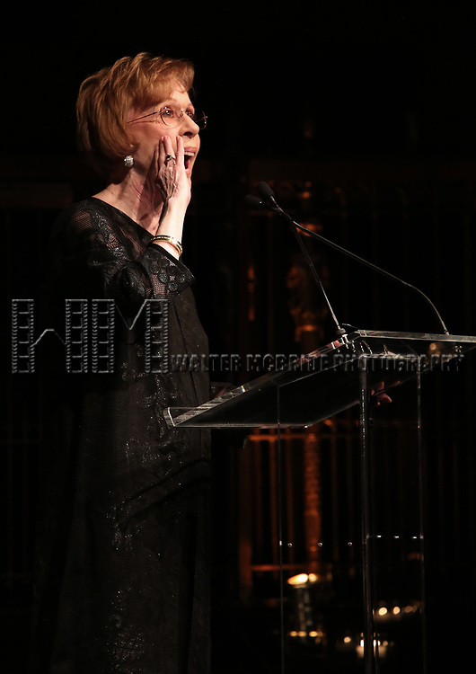 Carol Burnett on stage at the  2017 Dramatists Guild Foundation Gala presentation at Gotham Hall on November 6, 2017 in New York City.
