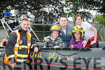 FAMILY FUN: Dan O'Callaghan and Tamara O'Donnell from the Kerry Civil Defence Force Tralee Unit pictured with Rod Breen from Tralee and his sons Ciarán and Oisín Breen at the CBS open day on Friday.