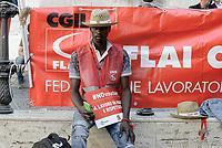 Roma, 24 Luglio 2018<br /> Lavoratrici e lavoratori dei settori agricoli manifestano davanti al Parlamento per contro la reintroduzione dei Voucher nel decreto Dignit&agrave; in discussione in Parlamento