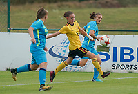 20200820 - TUBIZE , Belgium : Belgium's Noa De Causemaeker (6) in action during a friendly match between Belgian national women's youth soccer team called the Red Flames U17 and Union Saint-Ghislain Tetre , on the 20th of August 2020 in Tubize.  PHOTO: Sportpix.be | SEVIL OKTEM