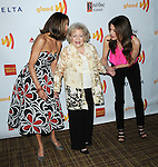 Wendie Malick, Betty White and Jane Leeves arriving at the 23rd Annual GLAAD Media Awards, held at the Westin Bonaventure Hotel in Los Angeles, California. April 21,  2012