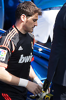 Iker Casillas out of the locker room tunnel