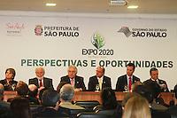 SAO PAULO, SP, 24 DE MAIO 2012 - SEMINARIO EXPO 2012 - O governador do Estado Geraldo Alckmin e o prefeito de Sao Paulo durante Seminário Expo 2020: Perspectivas e Oportunidades, na Sede da Prefeitura de São Paulo, nesta quinta-feira, 24. (FOTO: GEORGINA GARCIA / BRAZIL PHOTO PRESS).