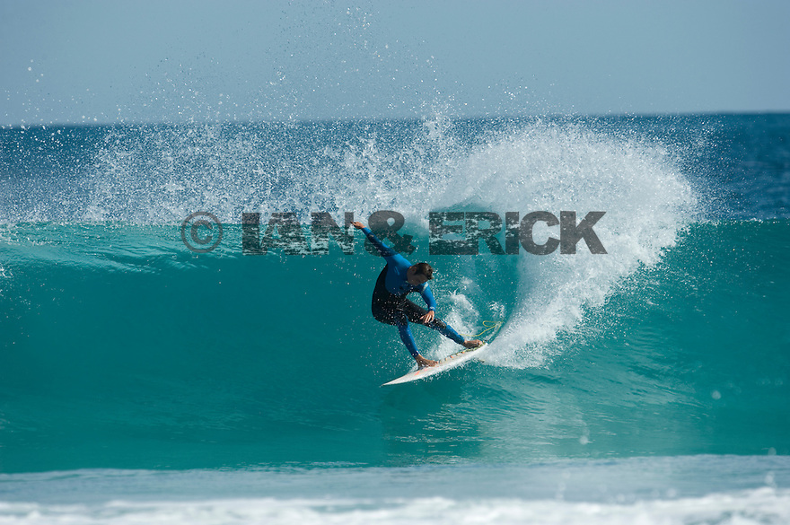 Ry Craike (AUS) at the Back Beach in Kalbarri in Western Australia.