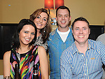 Emmet Grogan, Steven and Cheryl Smith and Sarah Jane Wall pictured at the Ham Sandwich gig in McHugh's. Photo: Colin Bell/pressphotos.ie