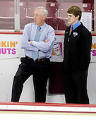 Jerry York (BC - Head Coach), Brian Billett - The Boston College Eagles defeated the Merrimack College Warriors 4-3 on Friday, October 30, 2009, at Conte Forum in Chestnut Hill, Massachusetts.