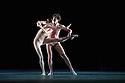 London, UK. 07.04.2013. The Mikhailovsky Ballet presents a triple bill of WITHOUT WORDS, PRELUDE and NUNC DIMITTIS, at the London Coliseum. This picture is of WITHOUT WORDS, which is danced by Irina Kosheleva, Leonid Sarafanov, Ekaterina Borchenko, Mikhail Sivakov, Valeria Zapasnikova, Pavel Vinogradov, Maria Dmitriyenko, Andrey Lapshanov. Photograph © Jane Hobson.