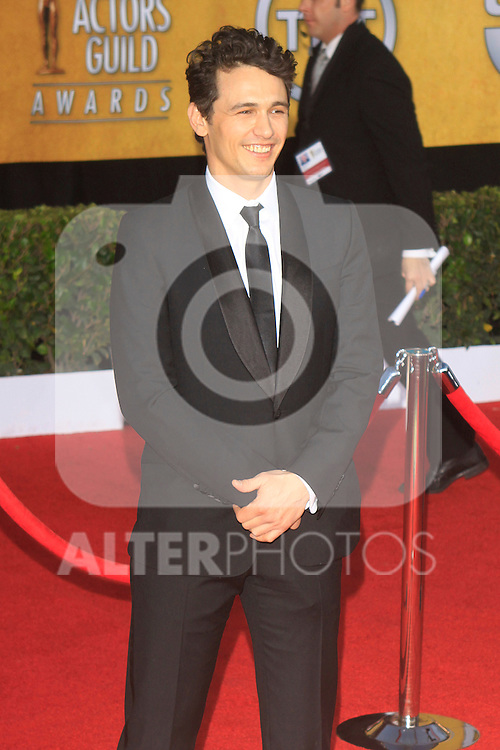 Actor James Franco arrives at the 17th Annual Screen Actors Guide Awards, Los Angeles, California, USA. 1/30/11. ..Photo: Santiago Irigoyen / ALFAQUI