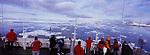 Cap au Nord ! Le  M/V Grigoriy Mikheev, un ancien navire hydrographique russe reconverti en bateau d exploration quitte les quais de Longyearbyen   pour entamer un périple de 12 jours autour de l archipel du Svalbard. .
