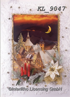 Interlitho-Helga, CHRISTMAS SYMBOLS, WEIHNACHTEN SYMBOLE, NAVIDAD SÍMBOLOS, photos+++++,candles,village,KL9047,#xx#
