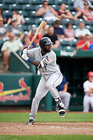 San Antonio Missions right fielder Franmil Reyes (7) at bat during a game against the Springfield Cardinals on June 4, 2017 at Hammons Field in Springfield, Missouri.  San Antonio defeated Springfield 6-1.  (Mike Janes/Four Seam Images)