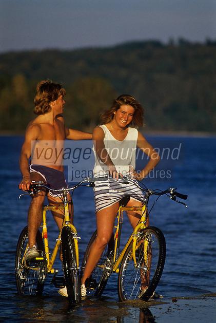 Europe/France/Limousin/87/Haute Vienne: Vélo tout terrain au Lac de Vassivière