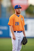 St. Lucie Mets pitcher Trey Cobb (28) during a game against the Daytona Tortugas on August 3, 2018 at First Data Field in Port St. Lucie, Florida.  Daytona defeated St. Lucie 3-2.  (Mike Janes/Four Seam Images)