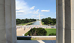 Washington Monument reflecting pool and US Capitol from pillars Lincoln Memorial Washington DC, Washington Monument and flags Washington DC, Washington Monument,US Capital, United States Capital with flags, US flags, Lincoln memorial and washington monumnet, Washington DC, District, DC, capital, Potomac River, Washington Metropolitain, metropolitan area, federal district, federal government of USA, US Congress, White House, National Mall, Politics in the United States, Presidential, Federal Republic, united States Congress, powers, Judicial Power, House of Representatives, US Senate, Consitiution, federal law, Democratic Party, Republican party, two party system, Fine Art Photography by Ron Bennett, Fine Art, Fine Art photo, Art Photography,