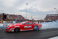 Sep 28, 2019; Madison, IL, USA; NHRA pro stock driver Erica Enders during qualifying for the Midwest Nationals at World Wide Technology Raceway. Mandatory Credit: Mark J. Rebilas-USA TODAY Sports