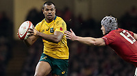 Australia's Kurtley Beale under pressure from Wales' Jonathan Davies<br /> <br /> Photographer Simon King/CameraSport<br /> <br /> International Rugby Union - 2017 Under Armour Series Autumn Internationals - Wales v Australia - Saturday 11th November 2017 - Principality Stadium - Cardiff<br /> <br /> World Copyright &copy; 2017 CameraSport. All rights reserved. 43 Linden Ave. Countesthorpe. Leicester. England. LE8 5PG - Tel: +44 (0) 116 277 4147 - admin@camerasport.com - www.camerasport.com