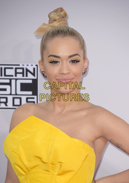 Rita Ora at The 2014 American Music Award held at The Nokia Theatre L.A. Live in Los Angeles, California on November 23,2014                                                                                <br /> CAP/RKE/DVS<br /> &copy;DVS/RockinExposures/Capital Pictures