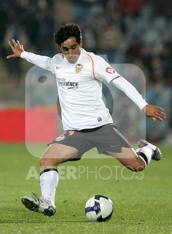 Valencia's Vicente Rodriguez during La Liga match, November 09, 2008. (ALTERPHOTOS/Alvaro Hernandez)