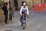Svein Tuft (CAN) Orica GreenEdge makes his way to sign on before the start of the 2015 Strade Bianche Eroica Pro cycle race 200km over the white gravel roads from San Gimignano to Siena, Tuscany, Italy. 7th March 2015<br /> Photo: Eoin Clarke www.newsfile.ie
