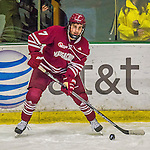 25 November 2014: University of Massachusetts Minutemen Forward Patrick Lee, a Freshman from Calgary, Alberta, in 3rd period action against the University of Vermont Catamounts at Gutterson Fieldhouse in Burlington, Vermont. The Cats defeated the Minutemen 3-1 to sweep the 2-game, home-and-away Hockey East Series. Mandatory Credit: Ed Wolfstein Photo *** RAW (NEF) Image File Available ***