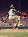 CIRCA 1971:  Vida Blue #35 of the Oakland A's, pitching during a game from his 1971 season with the Oakland A's.  Vida Blue played for 17 years with 3 different teams, was a 6-time All-Star and was the 1971 American League MVP.(Photo by: 1971 : SportPics : Vida Blue