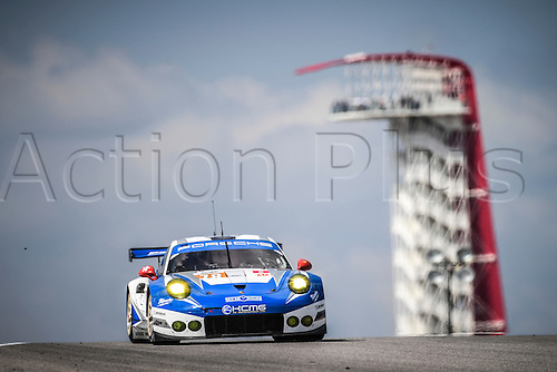 16.09.2016. Circuit of The Americas, Austin, Texas, USA. WEC 6 Hours Qualifying.  #78 KCMG (HKG) PORSCHE 911 RSR LMGTE AM CHRISTIAN RIED (DEU) WOLF HENZLER (DEU) JOEL CAMATHIAS (CHE)