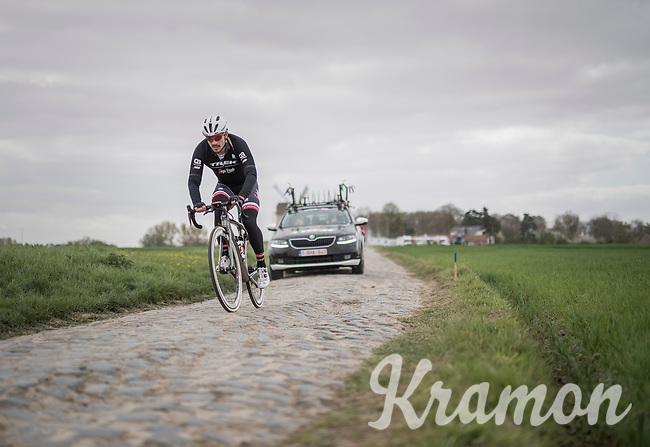 John Degenkolb (DEU/Trek-Segafredo)<br /> <br /> Team Trek-Segafredo at the 2017 Paris-Roubaix recon, 3 days prior to the event.