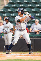 Mike Ford (26) of the Charleston RiverDogs at bat against the Hickory Crawdads at L.P. Frans Stadium on May 25, 2014 in Hickory, North Carolina.  The RiverDogs defeated the Crawdads 17-10.  (Brian Westerholt/Four Seam Images)