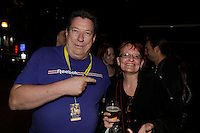 Montreal quebec CANADA - july 21 2012 - Opening day of Fantasia film Festival -  Jean-Pierre Bergeron (L)