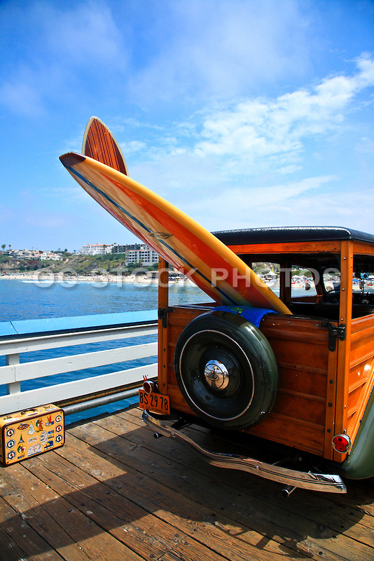 Classic Woody On San Clemente Pier