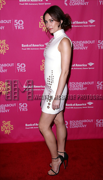 Laura Benanti attends the Broadway Opening Night Performance press reception for 'She Loves Me' at Studio 54 on March 17, 2016 in New York City.