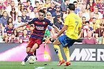 26.09.2015 Barcelona. La Liga day 6. Picture show Munir in action during game between FC Barcelona against Las Palmas at Camp Nou.