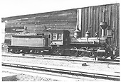 An engineer's-side view of a D&amp;RG Ten-Wheeler with #503 chalked on her tender.  This is probably engine #155 which was renumbered to #503 in October of 1887.  It carries a Baldwin builder's plate rather than a Rome plate that would be found on Class 104 #503 acquired from the Rio Grande Western RR.<br /> D&amp;RG    ca. 1887