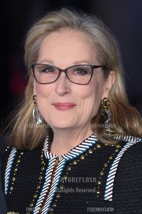 """LONDON, UK. December 12, 2018: Meryl Streep at the UK premiere of """"Mary Poppins Returns"""" at the Royal Albert Hall, London.<br /> Picture: Steve Vas/Featureflash"""
