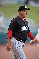 Chattanooga Lookouts manager Pat Kelly (33) before a Southern League game against the Birmingham Barons on May 1, 2019 at Regions Field in Birmingham, Alabama.  Chattanooga defeated Birmingham 5-0.  (Mike Janes/Four Seam Images)