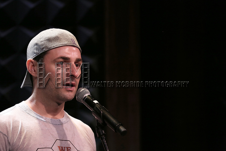 Max Von Essen in rehearsal for 'The Lord & The Master - Broadwayworld.com sings Andrew Lloyd Webber & Stephen Sondheim'  at Joe's Pub on June 16, 2014 in New York City.