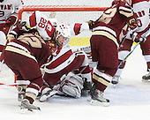Ben Smith (BC - 12), Chris Huxley (Harvard - 28), Alex Killorn (Harvard - 19), Ryan Carroll (Harvard - 35), Paul Carey (BC - 22) - The Boston College Eagles defeated the Harvard University Crimson 3-2 on Wednesday, December 9, 2009, at Bright Hockey Center in Cambridge, Massachusetts.
