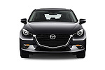 Car photography straight front view of a 2017 Mazda Mazda3 Grand-Touring 5 Door Hatchback Front View
