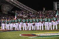 Mexico Team. Equipo de Mexico.<br /> <br /> Edgar Gonzalez, Jesus Quiroz (17), Alex <br /> Verdugo (27),  Brandon Laird (5), Adrian Gonzalez (23), Japhet Amador (42), Efren Navarro (24), Luis Cruz (47), Sebastian Elizalde (20),  Carlos Torres  (70), Fernando Salas (59), Miguel Gonzalez (58), Jake Sanchez (55), Sergio Romo (54), Joakim Soria (48), Oliver Perez (46) <br /> https://www.worldbaseballclassic.com/teams/mex<br /> Aspectos del partido Mexico vs Italia, durante Cl&aacute;sico Mundial de Beisbol en el Estadio de Charros de Jalisco.<br /> Guadalajara Jalisco a 9 Marzo 2017 <br /> Luis Gutierrez/NortePhoto.com