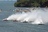 """Andrew Tate, GP-101, Jimmy King, GP-10 """"The Charger"""", Martin Rochon, GP-77 """"Coppertone Sport"""" and Tom Pakradooni, GP-88, """"Rolling Thunder"""" (Grand Prix Hydroplane(s)"""