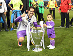 Real Madrid's Isco celebrates with the trophy during the Champions League Final match at the Principality Stadium, Cardiff. Picture date: June 3rd, 2017. Pic credit should read: David Klein/Sportimage