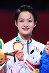 Kiyou Shimizu (JPN), <br /> AUGUST 25, 2018 - Karate : <br /> Women's Individual Kata Medal Ceremony  <br /> at Jakarta Convention Center Plenary Hall <br /> during the 2018 Jakarta Palembang Asian Games <br /> in Jakarta, Indonesia. <br /> (Photo by Naoki Nishimura/AFLO SPORT)