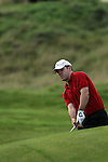 Day one of the Irish PGA championship at Seapoint Golf Club, Stephen Galvin from the Curragh hitting onto the 9th green...Picture Jenny Matthews/Newsfile.ie