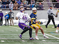 University at Albany Men's Lacrosse defeats Drexel 18-5 on Feb. 24 at Casey Stadium.  Kyle McClancy (#40). (Photo by Bruce Dudek / Cal Sport Media/Eclipse Sportswire)