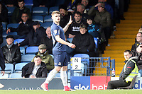 Charlie Kelman of Southend United celebrates scoring the first goal during Southend United vs Bristol Rovers, Sky Bet EFL League 1 Football at Roots Hall on 7th March 2020