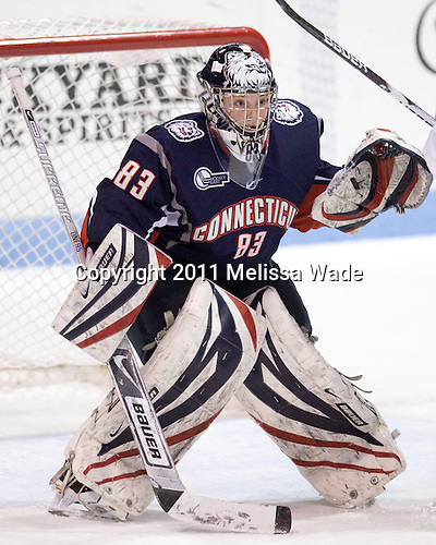 Alexandra Garcia (UConn - 83) - The visiting University of Connecticut Huskies defeated the Northeastern University Huskies 4-2 (EN) in NU's senior game on Saturday, February 19, 2011, at Matthews Arena in Boston, Massachusetts.