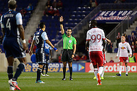 Harrison, NJ - Wednesday Feb. 22, 2017: Cesar Ramos during a Scotiabank CONCACAF Champions League quarterfinal match between the New York Red Bulls and the Vancouver Whitecaps FC at Red Bull Arena.